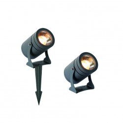 LED 12W Outdoor Floodlight Aluminium In Dark Gray IP65 25° Maris VIOKEF