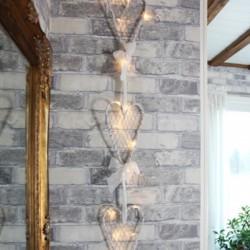 Διακόσμηση Γάμου Καρδιά Με Φωτάκια Μπαταρίας 3τμχ 100x15cm 15 LED Θερμό Φως DECOLIGHT