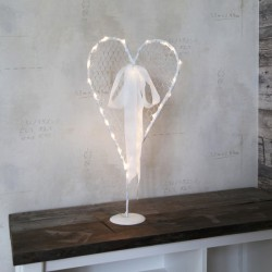 Διακόσμηση Γάμου Καρδιά Με Φωτάκια Μπαταρίας 56x26 cm 24 LED Θερμό Φως DECOLIGHT