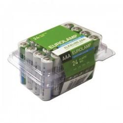 Alkaline Battery 24 Pieces 1,5 V ΑΑΑ LR03 Eurolamp