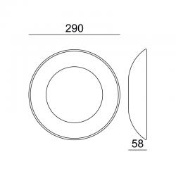LED Γύψινη Απλίκα Λευκή 4W 3000K 350lm PLACA Aca