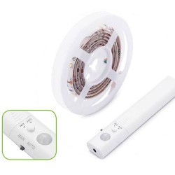 LED Ταινία Ντουλάπας Αδιάβροχη IP65 Φυσικό Λευκό 1 Μέτρο - Μπαταρίας 4x AAA ACA