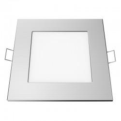 Χωνευτό Slim Panel Νίκελ Ματ Τετράγωνο LED SMD 12W 120° PLATO Aca