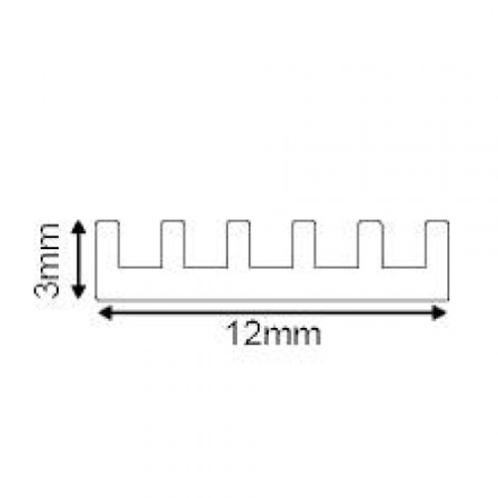 Ψύκτρα Αλουμινίου SIM Απαγωγής Θερμότητας Μη Ανοδιώμενη P42A ACA