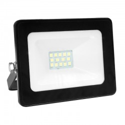 LED Floodlight SMD 10W Aluminium Body In Black 12-24V IP66 ACA
