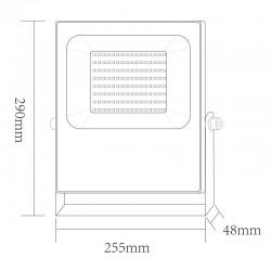 LED Προβολέας Σε Μαύρο Χρώμα 100W RGBW 110° Aca