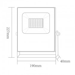 LED Προβολέας Σε Μαύρο Χρώμα 30W RGBW 110° Aca
