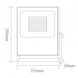 LED Προβολέας Σε Μαύρο Χρώμα 50W RGBW 110° Aca