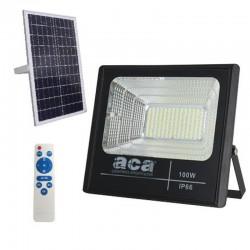 LED Προβολέας Με Φωτοβολταϊκό Πάνελ 100W 6000K 3.2V/24Ah IP66 120° SVIDE ACA