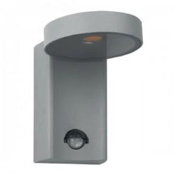 LED Απλίκα Εξωτερικού Χώρου Γκρι Με Αισθητήρα Ημέρας - Νύχτας Και Κίνησης 10W 650lm 120° POREA Aca