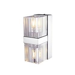 Φωτιστικό Τοίχου Απλίκα Σε Χρώμιο Με Γυαλί 2x G9 40W ACA