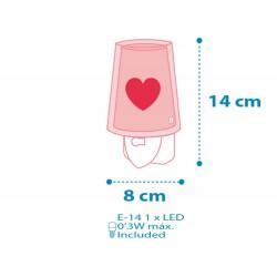 Feeling Pink Παιδικό Φωτιστικό Νυκτός Πρίζας LED Ango