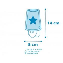 Feeling Blue Παιδικό Φωτιστικό Νυκτός Πρίζας LED Ango