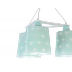 Stars Green Κρεμαστό Παιδικό Φωτιστικό Τρίφωτο Οροφής 3xE27 Ango