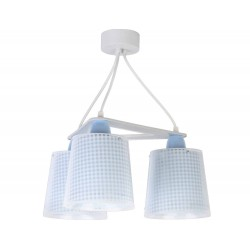 Vichy Blue Κρεμαστό Παιδικό Φωτιστικό Τρίφωτο Οροφής 3xE27 Ango