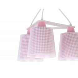 Vichy Pink Ceiling Three Lights Ango