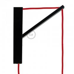 Pinocchio Μαύρη Ξύλινη Βάση Για Τοίχο Ιδανική Για Κρεμαστά Φωτιστικά Creative Cables