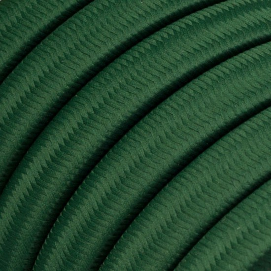 Garland Ready to Use, 12,5m Fabric Boot Plate Dark Green CM21 with 10 Lamp, Hook and Connector Creative Cables