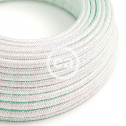 Στρόγγυλο Υφασμάτινο Καλώδιο - RL00 Ιβουάρ Γυαλιστερό Unicorn Creative Cables