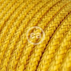 Στρόγγυλο Υφασμάτινο Καλώδιο - RM31 Κίτρινο Lemon Creative Cables
