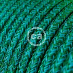 Στρόγγυλο Υφασμάτινο Καλώδιο - RM33 Σμαραγδί Πράσινο Creative Cables