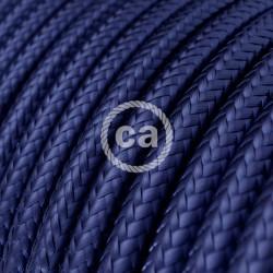 Στρόγγυλο Υφασμάτινο Καλώδιο - RM34 Μπλε Ζαφείρι Creative Cables