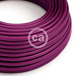 Στρόγγυλο Υφασμάτινο Καλώδιο - RM35 Έντονο Μωβ Βιολετί Creative Cables
