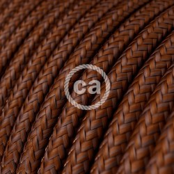 Round Cloth Cable - RM36 Brown Rust Creative Cables