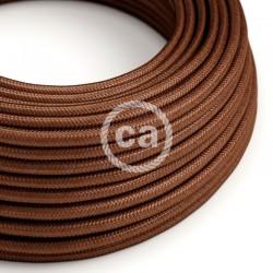Στρόγγυλο Υφασμάτινο Καλώδιο - RM36 Καφέ Σκουριά Creative Cables