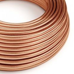 Στρόγγυλο Υφασμάτινο Καλώδιο 100% Χάλκινο Creative Cables