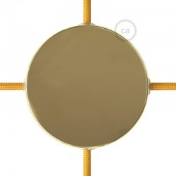 Κουτί Διακλάδωσης Χρυσό Μεταλλικό Με 4 Τρύπες Στο Πλάι, Με Εξαρτήματα Creative Cables