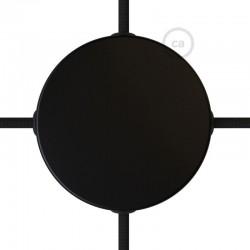 Κουτί Διακλάδωσης Μαύρο Μεταλλικό Με 4 Τρύπες Στο Πλάι, Με Εξαρτήματα Creative Cables
