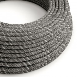 Round Vertigo Cotton Wire ERC37 Gray White Creative Cables Creative Cables