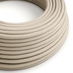 Στρόγγυλο Υφασμάτινο Καλώδιο Vertigo ERD20 Ριγέ Μπεζ της Άμμου Creative Cables