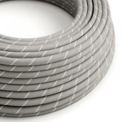 Στρόγγυλο Υφασμάτινο Καλώδιο Vertigo ERD22 Sahara Μπεζ με Ρίγα Creative Cables