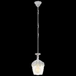 Vintage Κρεμαστό Φωτιστικό Σε Λευκό - Πατίνα 1x60W E27 SUDBURY Eglo