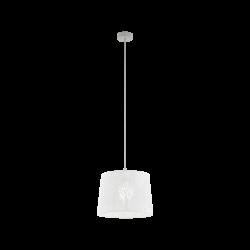 Vintage Κρεμαστό Μονόφωτο Φωτιστικό Λευκό Ø35cm, 1x 60W E27 HAMBLETON Eglo