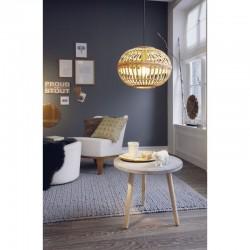Vintage Κρεμαστό Μονόφωτο Φωτιστικό Ξύλινο Ø380 1x60W E27 AMSFIELD Eglo