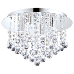 Bathroom Ceiling Lamp With Crystals LED G9 4x 3W IP44 ALMONTE Eglo