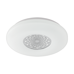 LED Ceiling - Wall Lamp In White Steel And Chromium Acrylic Plastic 18W 2100Lm 3000K CAPASSO 1 Eglo