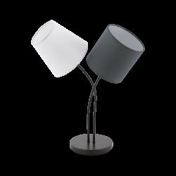 Επιτραπέζιο Φωτιστικό Δίφωτο Με Καπέλα 2x 40W E14 ALMEIDA Eglo