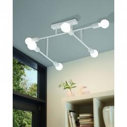 Ceiling Light Multi Lights In Black And White 6x E27 40W BELSIANA Eglo