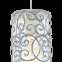 Vintage Κρεμαστό Φωτιστικό Σε Καφέ - Πατίνα Και Γκρι - Μπλε 1x60W E27 CARDIGAN Eglo
