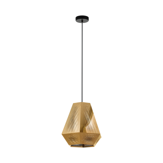 Pendant Single Light Metallic In Nickel Or Brass Ø36cm 1x E27 28W CHIAVICA Eglo