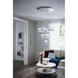 Ceiling Light In Chrome Color 10 x 3.3W GU10 3000K CONESSA Eglo