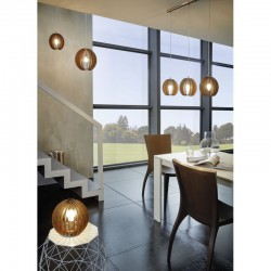Ceiling Single Light Wooden In Various Colors  ø30cm 1 x E27 60W COSSANO Eglo