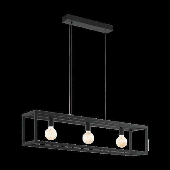 Pendant Lighting Metallic In Black Color 3x E27 60W ELSWICK Eglo