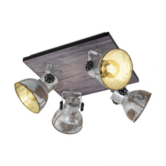 Quadruple Spotlight Eglo Barnstaple Industrial 49653