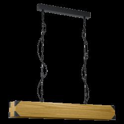 Pendant Light Linear From Wood 4x E27 40W HARBOROUGH Eglo