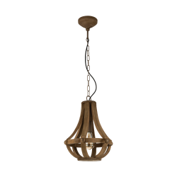 Vintage Κρεμαστό Φωτιστικό Μονόφωτο Ξύλινο Ø31cm 1x E27 60W KINROSS Eglo